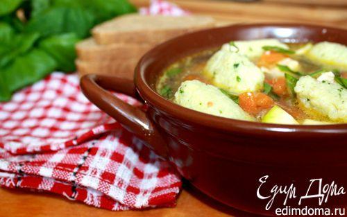 Рецепт Летний суп с рисовыми клёцками