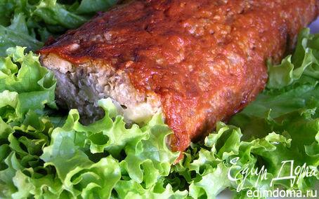 Рецепт Мясной рулет с сыром и зеленью