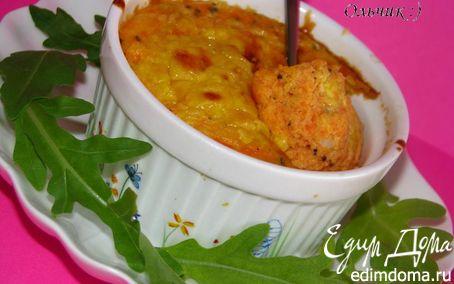 Рецепт Нежное овощное суфле с курицей и сыром