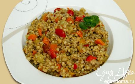 Рецепт Зеленая греча с овощами