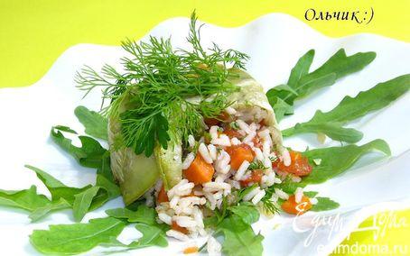 """Рецепт """"Под прикрытием"""". Рис с овощами и куриным филе"""