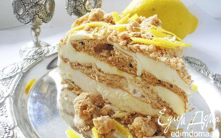 Рецепт Торт-мороженое с лимонным кремом