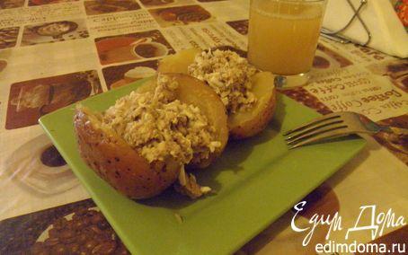 Рецепт Картофель, запеченный с начинкой из сардины