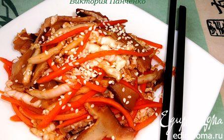 Рецепт Острый салат с шиитаке