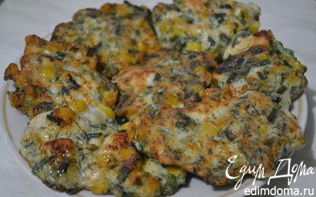 Рецепт Рубленые куриные котлетки с кукурузой и зеленью