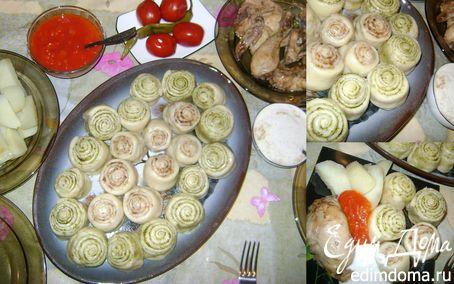 Рецепт Слоеный хинкал. Даргинская кухня в пароварке