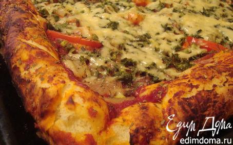 Рецепт Боооольшая и вкусная пицца