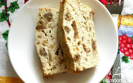 Рецепт Террин из курицы с жареным луком и бородинским хлебом