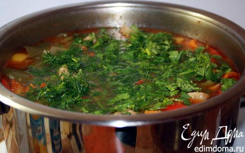 Рецепт Дачная шурпа из баранины