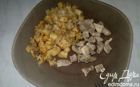 Рецепт Рис с корнем сельдерея и свинина с травами
