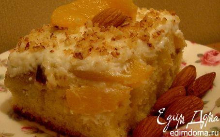 Рецепт Нежнейший пирог с персиками