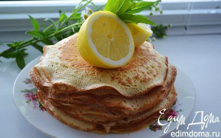 Рецепт Дрожжевые, лимонно-манные блины