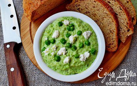 Рецепт Нежный паштет из зелёного горошка