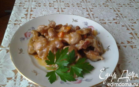 Рецепт Гуляш из куриных желудков в мультиварке