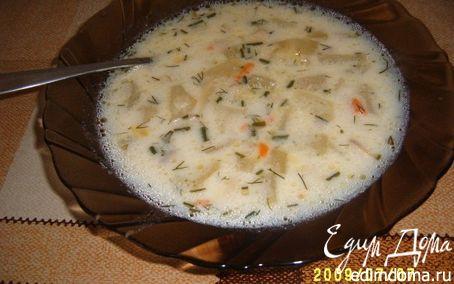 Рецепт Суп грибной с плавленным сырком