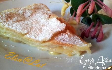 Рецепт Слоеный пирог с яблоками и грушей