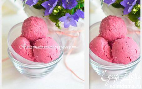 Рецепт Йогуртовое мороженое с малиной и ежевикой