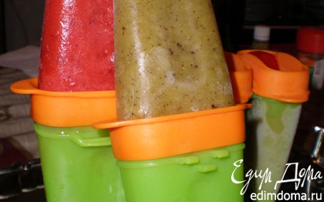 Рецепт Фруктовое мороженое из клубники и киви
