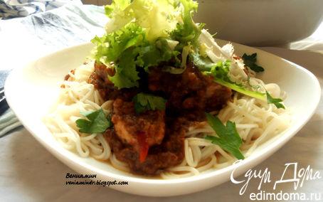 Рецепт Свинина в кисло-пряном соусе из ревеня