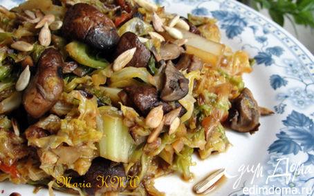 Рецепт Савойская капуста с грибами