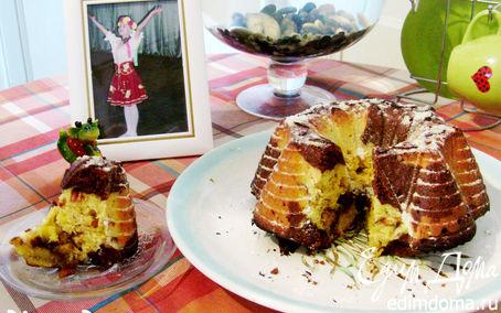 Рецепт Немецкий мраморный кекс с арахисом ( Marmorkuchen)
