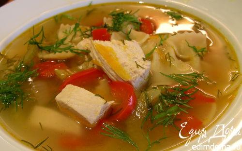 Рецепт Суп из индейки (курицы) с лимоном