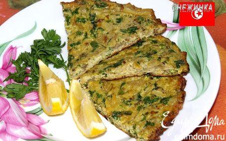 Рецепт «Маакуда» (Тунисский омлет с баклажаном)