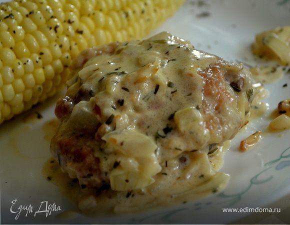 Куриные бедрышки в соусе кремово-горчичном