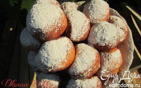 Рецепт Творожные пончики с вишней