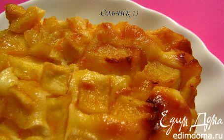Рецепт Творожное суфле с карамелизированными яблоками