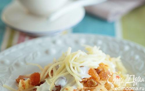 Рецепт Десерт с сыром и изюмом «Сырный восторг»