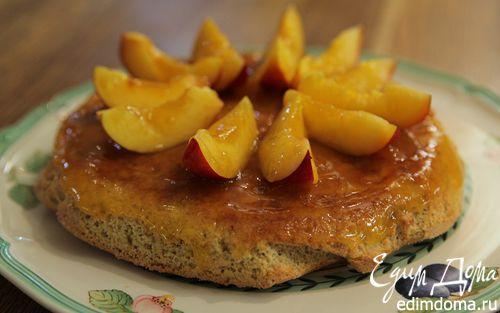Рецепт Пирог с нектаринами и миндалем