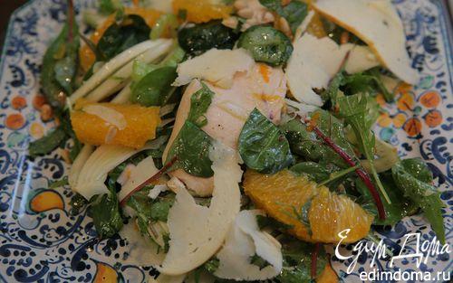 Рецепт Салат с куриной грудкой, фенхелем и сельдереем