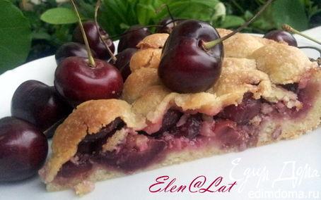 Рецепт Черешневый пирог с миндалем