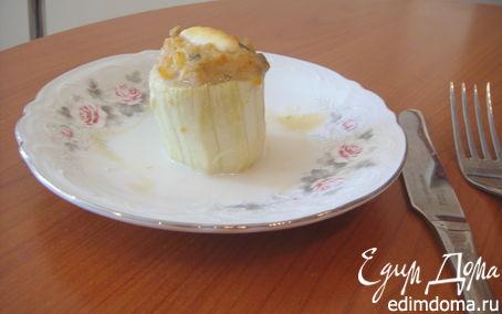 Рецепт Фаршированные курицей и грибами кабачки с бальзамическим соусом