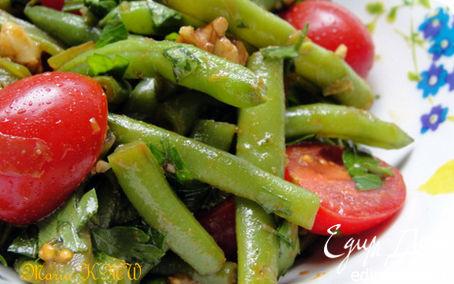 Рецепт Летний салат со стручковой фасолью