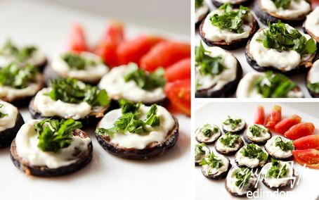 Рецепт Жареные баклажаны под чесночным соусом