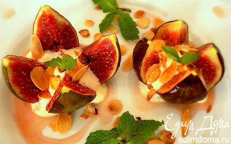 Рецепт Инжир с йогуртом, миндалем и медом
