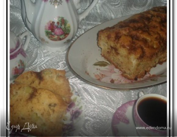 Ревеневый кекс с орехами
