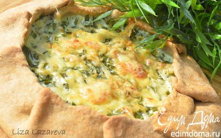 Рецепт Ароматная галета с молодым зеленым луком