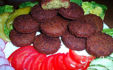 Рецепт Фаляфель (жареные во фритюре шарики из измельченного нута)