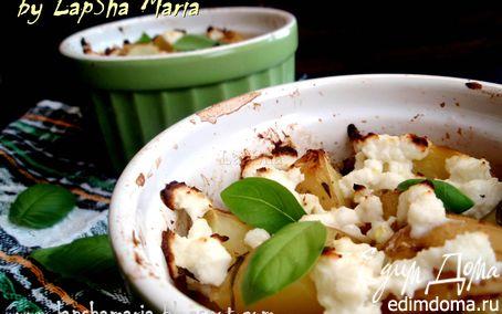 Рецепт Молодой картофель с легкой фетой и базиликом
