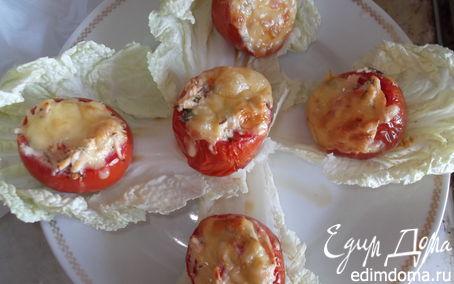 Рецепт Горшочки из помидоров, фаршированные куриной грудкой