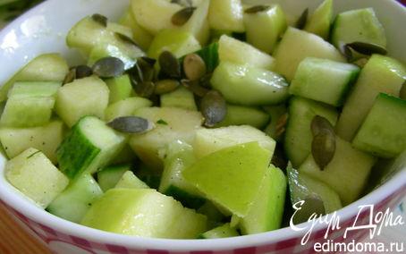 Рецепт Огуречно-яблочный салат