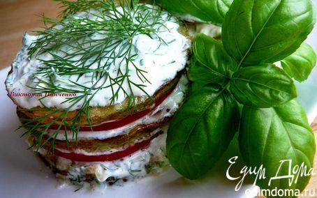 Рецепт Башенки из кабачков с помидорами