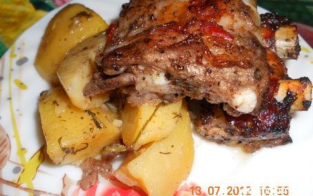 Рецепт – Картошка с ребрышками в духовке