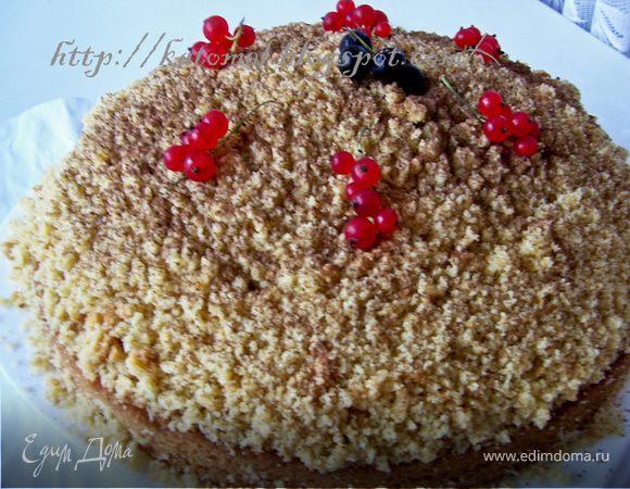 Йогуртовый ягодный торт с орехами