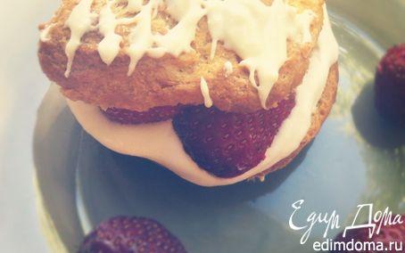 Рецепт Заварные пирожные с клубникой