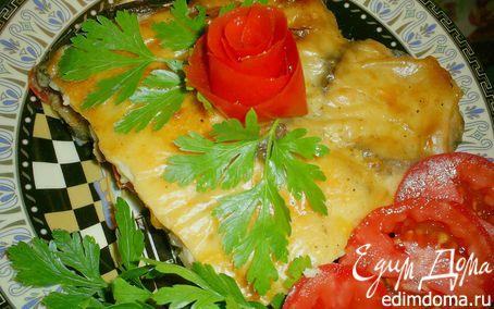 Рецепт Запеканка из баклажанов с мясом и овощами под сырным соусом