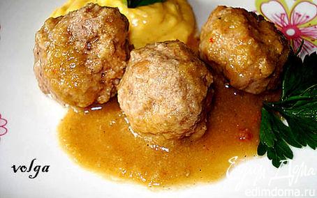 Рецепт Фрикадельки в луковом соусе